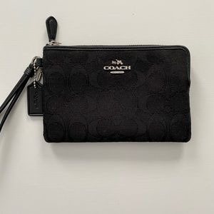 Authentic Black Coach Wristlet